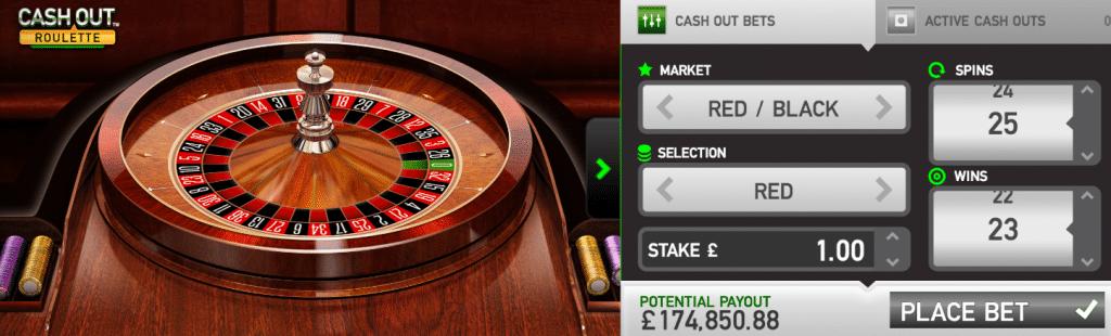 cash out roulette