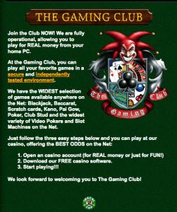 gaming club 1998