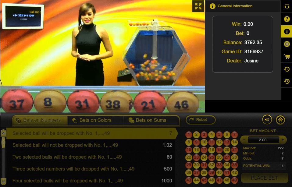 ezugi live lottery