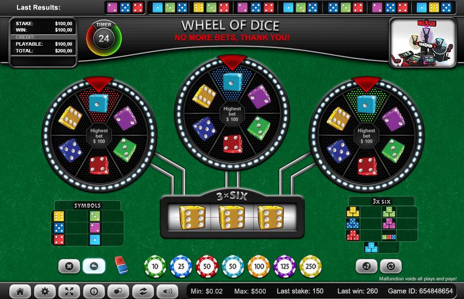 ezugi wheel of dice 2