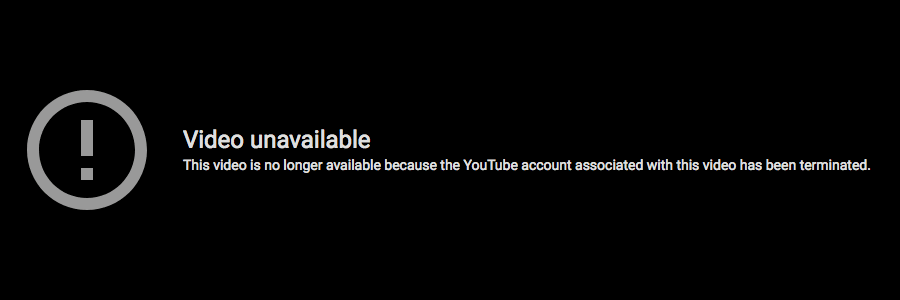 YouTube casino channel banned