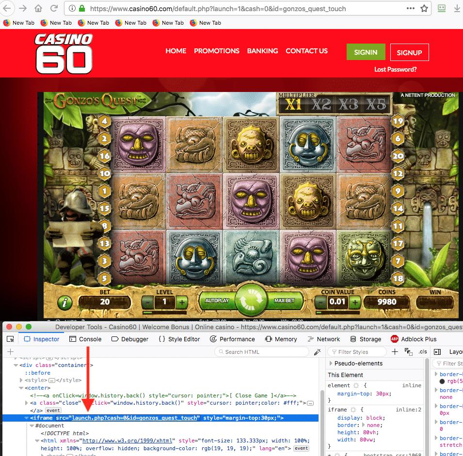 pirated casino game